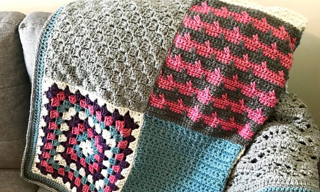 Sampler crochet blanket